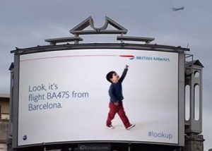 british airways lookup billboard